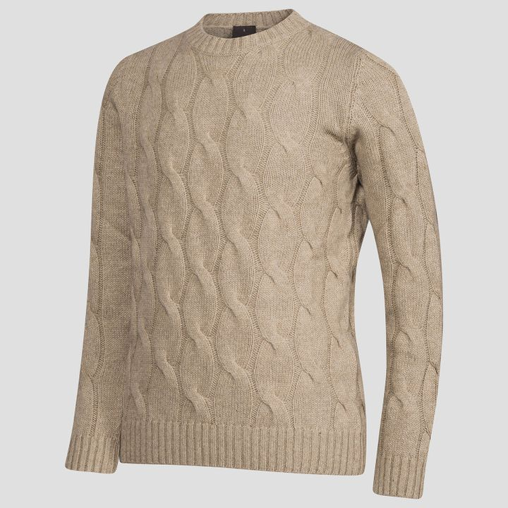 Emanuel cable knit roundneck