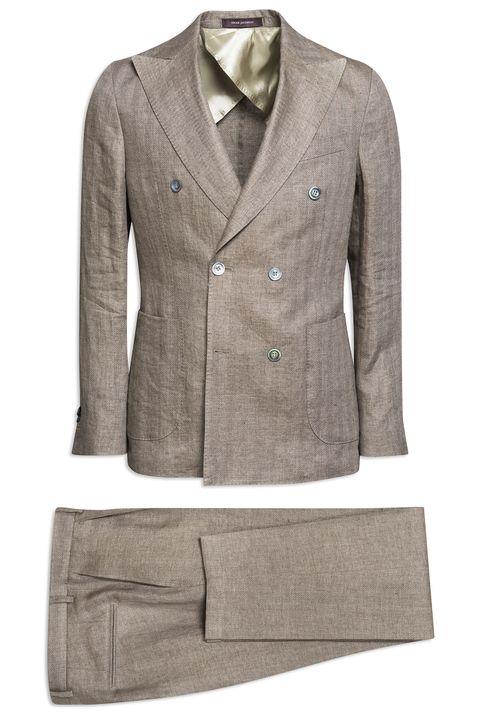 Erik Double-breasted Linen Suit