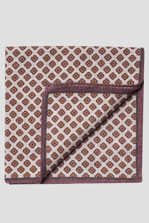 Floral print wool handkerchief