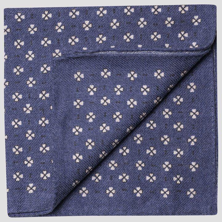 Micro pattern wool handkerchief