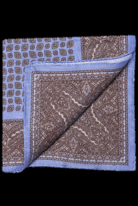 Paisley pattern linen handkerchief