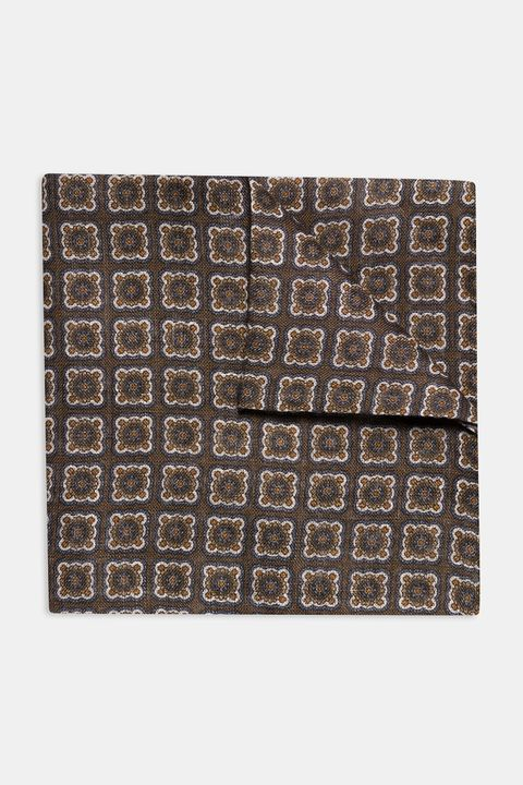 Patterned linen Handkerchief