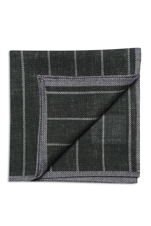Striped wool and silk handkerchief
