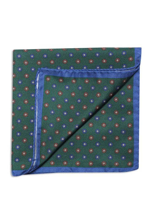 Medallion silk handkerchief