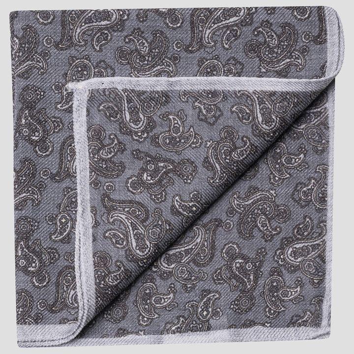 Paisley pattern wool handkerchief