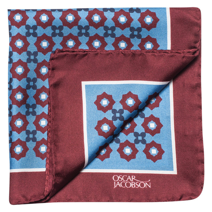 Patterned silk handkerchief
