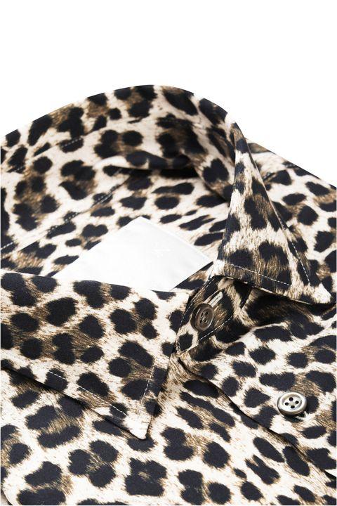 Hasse leopardmönstrad skjorta