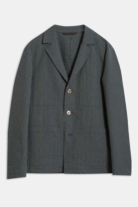 Hector striped seersucker blazer
