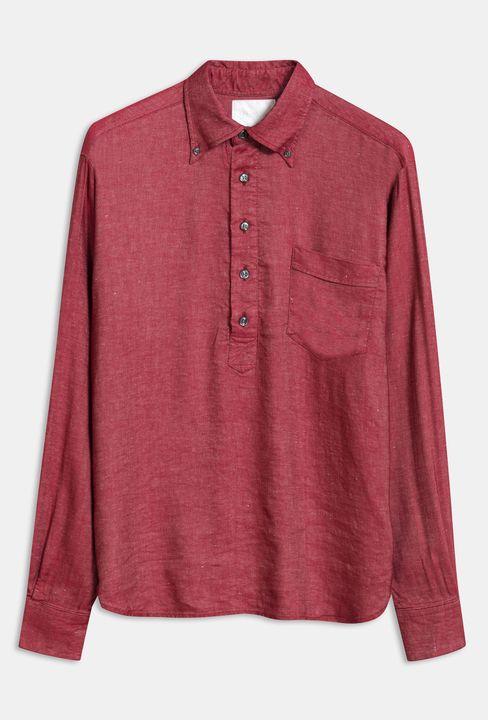Hilding popover linneskjorta