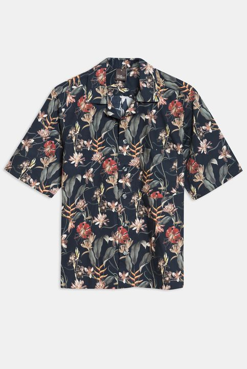 Hilmer flower print short sleeve shirt