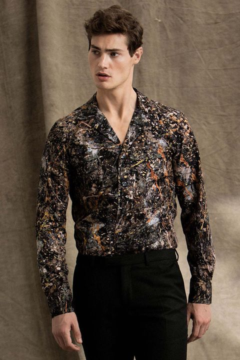 Hook patterned shirt