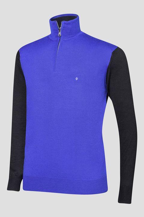 Jerome pin half-zip golf sweater