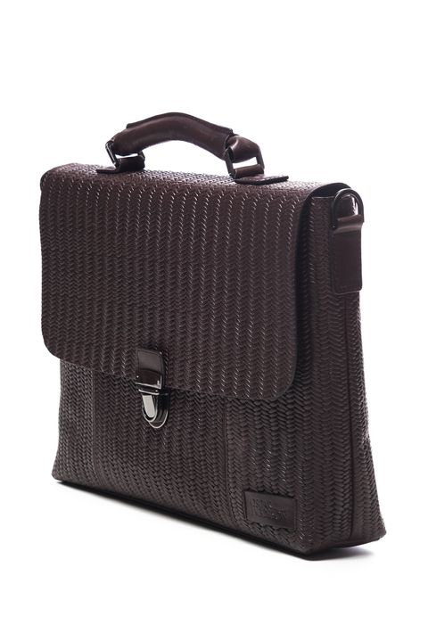 Braided briefcase 15""