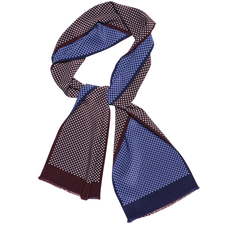 Dotted silk scarf