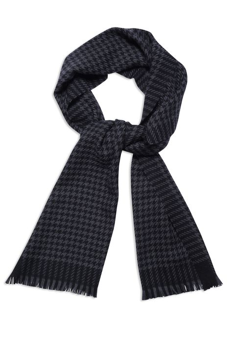 Checkered silk scarf