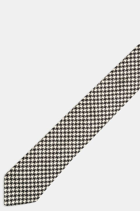 Checkered silk tie