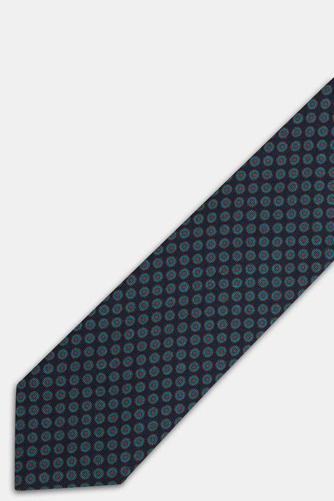 micro patterned wool tie