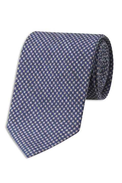 Micro patterned wool tie