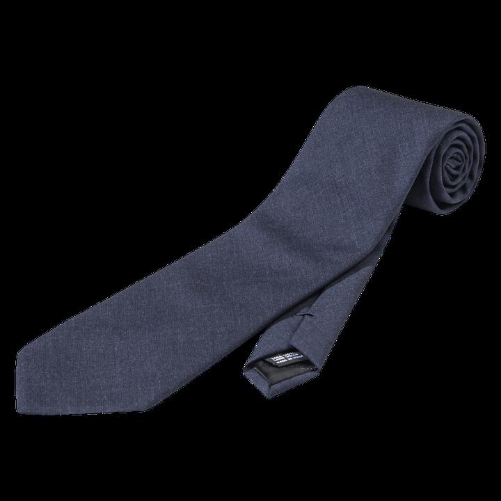 Plain wool tie