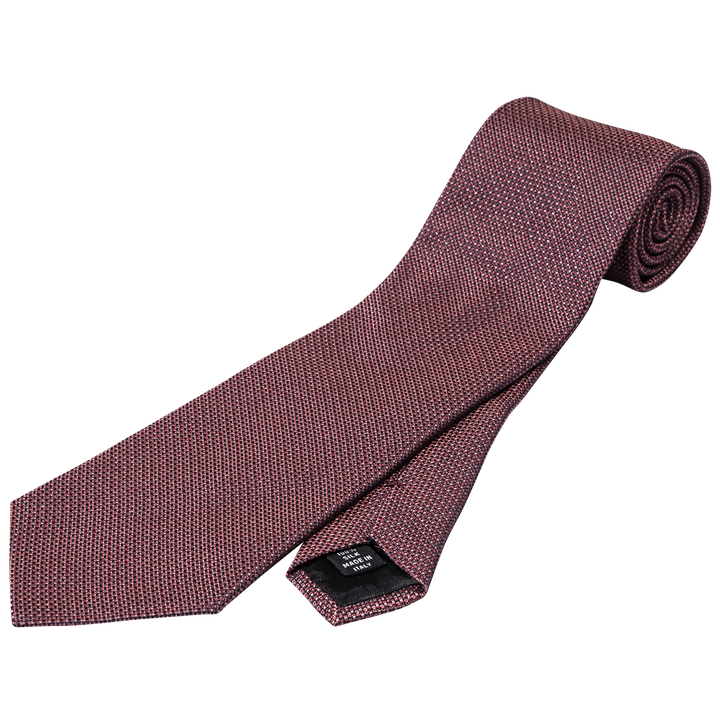 Micro dotted silk tie