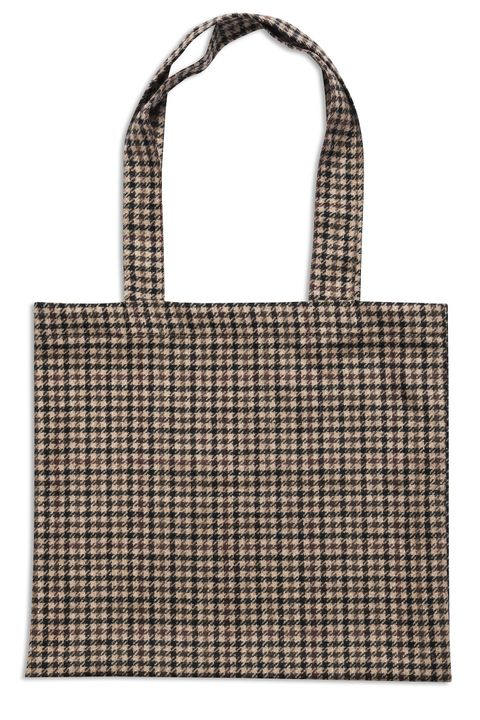 Checkered tote bag