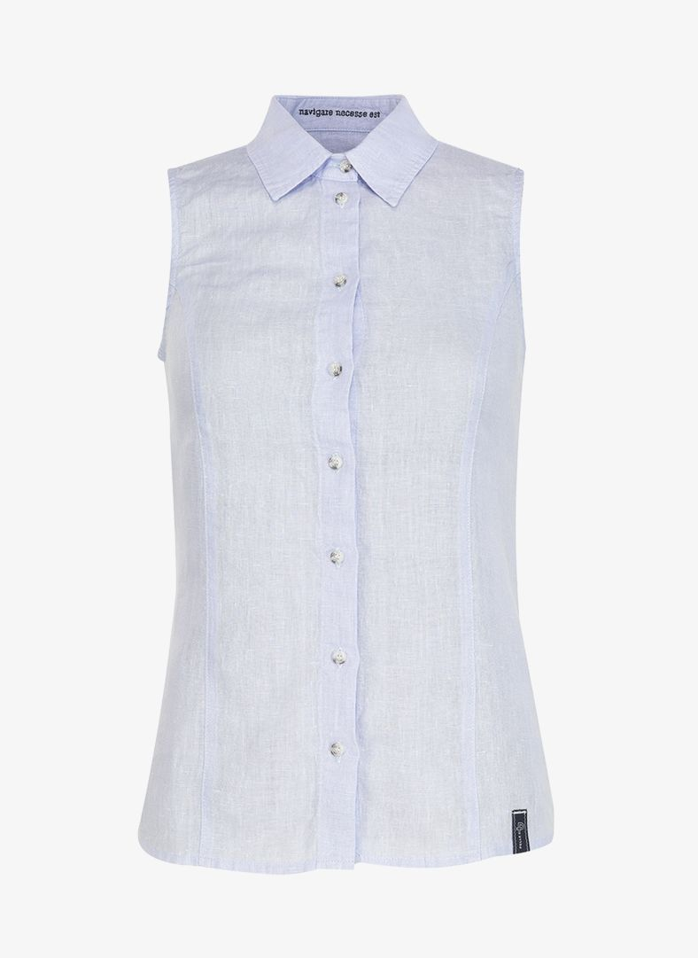 W Linen Sleeveless Shirt