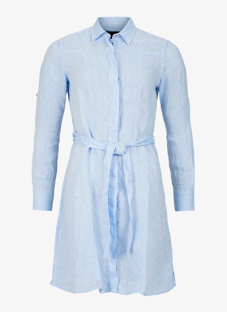 W Linen Flare Long Shirt