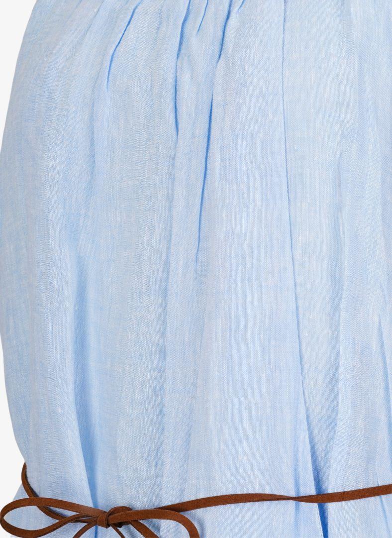 W Linen Pleated Dress