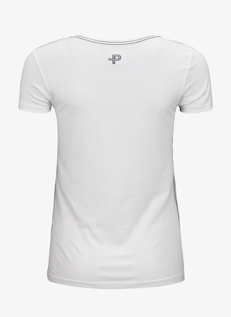 W T-shirt Circle Print