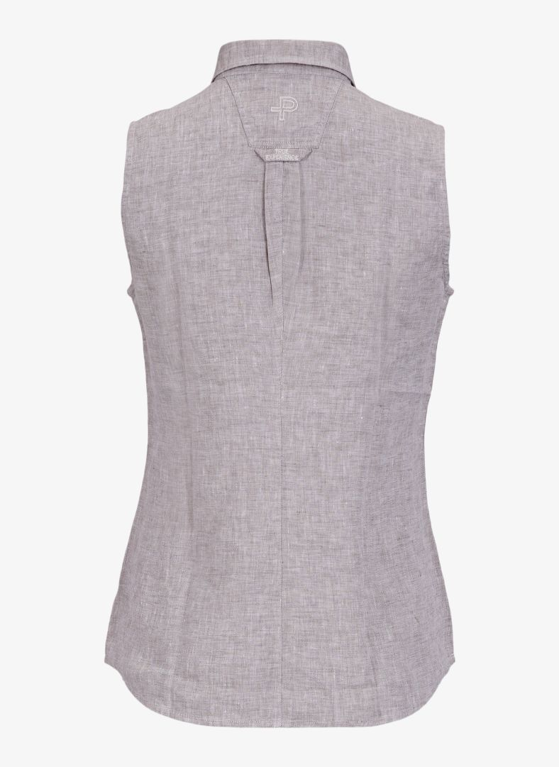 W Linen Sleeveless Shirt