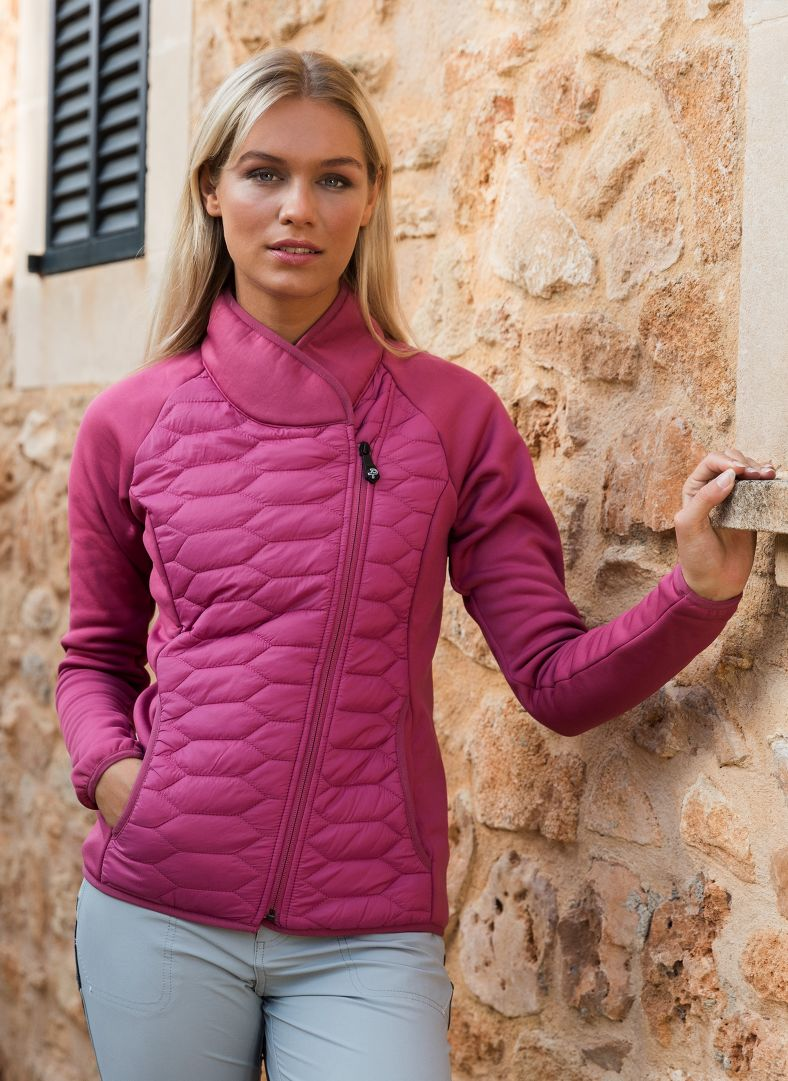 W Levo Quilted Zip Midlayer