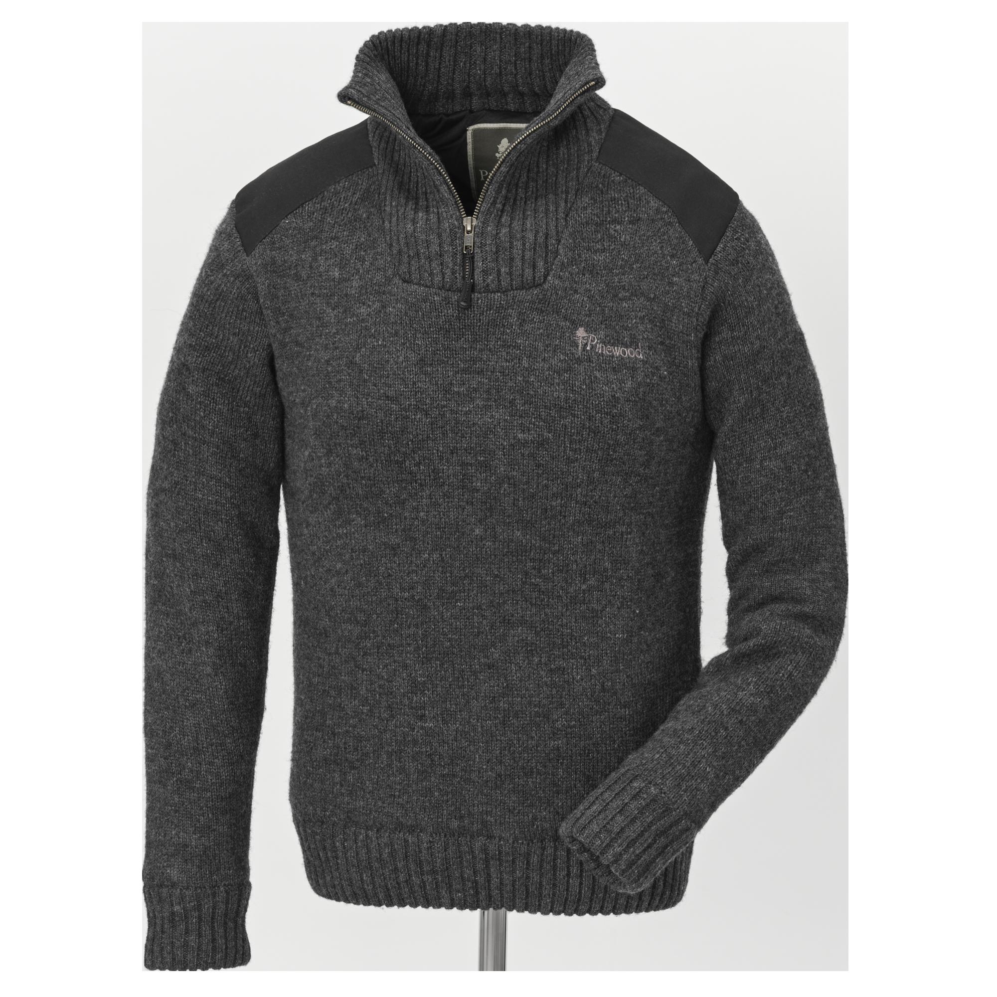 Finstickad tröja i merinoull Mörk gråmelerad DAM | H&M SE
