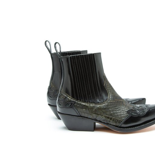 Charl Python Calf Outdoor Green