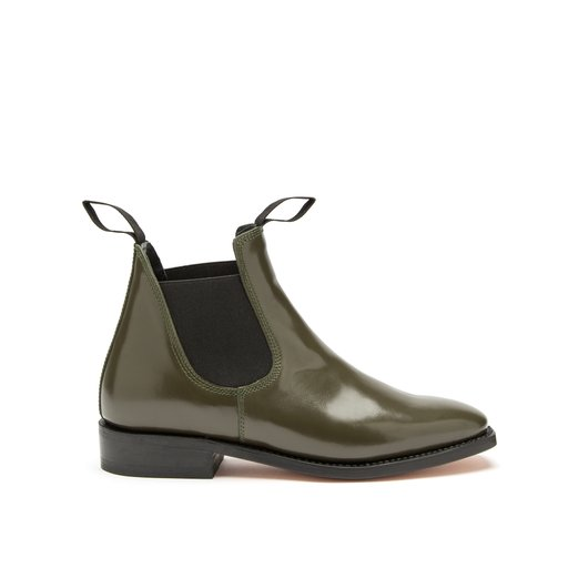 Jenny Patent Leather Outdoor Green