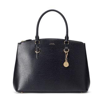 Lauren Ralph Lauren Double Zip Satchel handväska i skinn