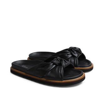 Rizzo Zelia slip-in sandaler i skinn, dam