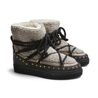 Inuikii Sneaker Curly Rock varmfodrade skor i skinn, dam