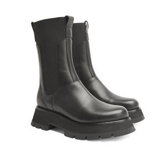 3.1 Phillip Lim Kate Combat boots i skinn, dam