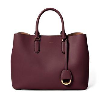 Lauren Ralph Lauren Dryden Marcy Satchel handväska i skinn