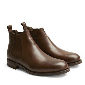 Rizzo Adelfio fodrade chelsea boots i skinn, herr
