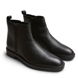 Hugo Boss Bohemian zip boots i skinn