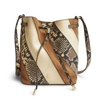 Lauren Ralph Lauren Debby II Drawstring handväska i skinn