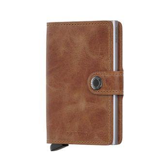Secrid Minivallet Vintage plånbok i skinn och metall