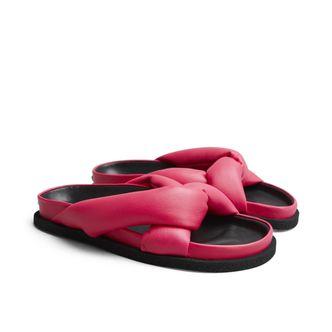 Kenzo Komfy Flat Mule sandaler i skinn, dam