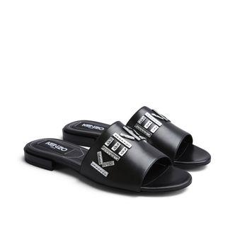 Kenzo Kruise Flat Mule sandaler i skinn, dam