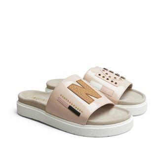 Inuikii slip-in sandaler i skinn, dam