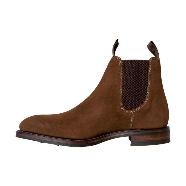 Loake Chatsworth chelsea boots i mocka, herr