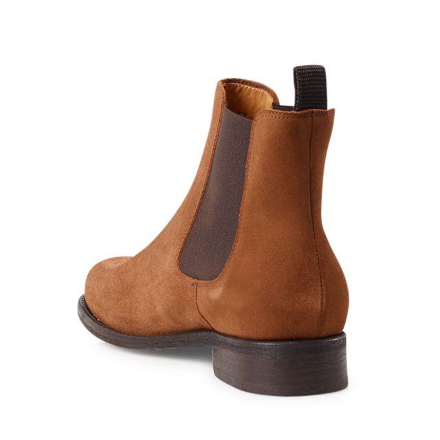 Rizzo Arabella chelsea boots i mocka, dam