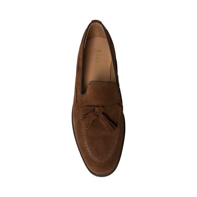 Loake Lincoln loafers i mocka, herr
