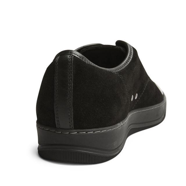 Lanvin Patent Cap-Toe sneakers i mocka, herr